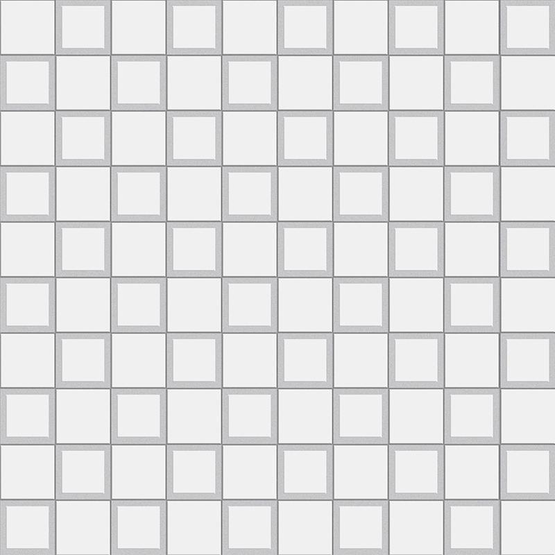 MOSAICO SQUARE WHITE MATT (3X3) (33x33)