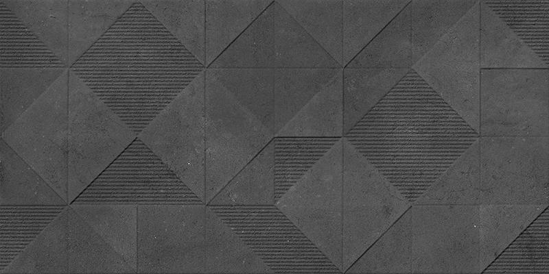 ORIGAMI GRAPHITE DECOR RECT. (45x90)